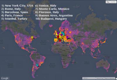 Los lugares más fotografiados del mundo según Google