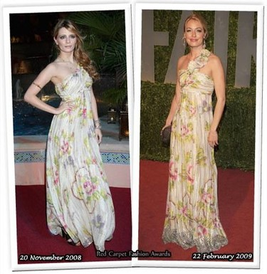 Vestido de Matthew Williamson: ¿Mischa Barton o Cat Deeley?