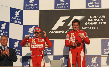 Podio Bahréin 2010