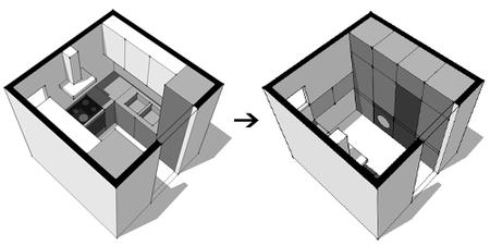 Cocinas peque as c mo aprovechar el espacio al mil metro for Cuarto 4x4 metros