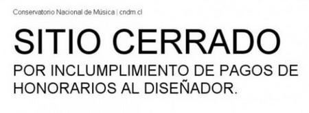 Impagos en internet y el caso del Conservatorio Nacional de Chile:cuidado con estas actuaciones