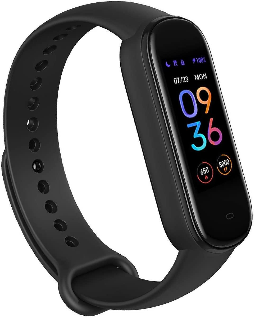 Amazfit Band 5 Fitness Tracker con Alexa incorporado, Negro