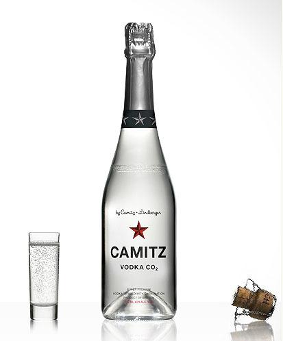 Vodka sueco con burbujas de champagne
