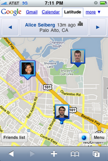 Google Latitude (un tanto descafeinado) en el iPhone