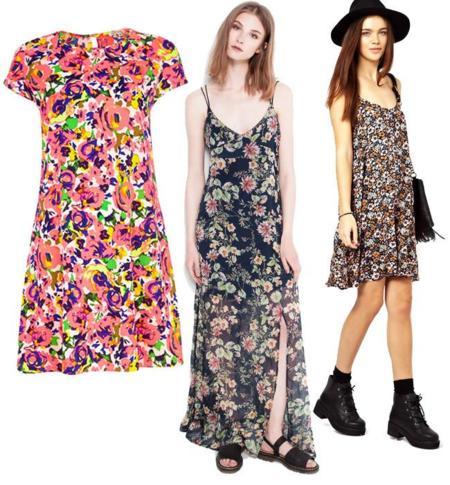 flores vestidos verano 2014