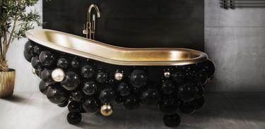 Si te gusta el glamour en los baños es posible que te encanten estas bañeras