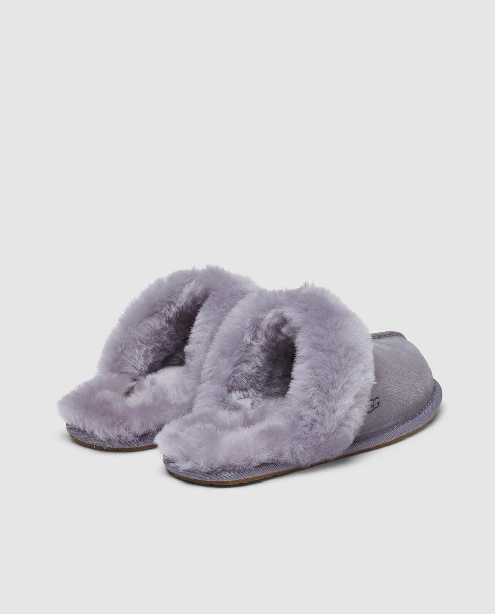 Zapatillas de estar en casa en ante gris