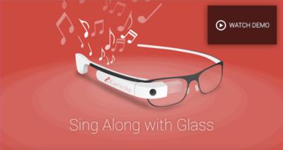 Kamioke, una app de Google Glass para cantar tus canciones favoritas