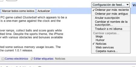 Traducción automática en Google Reader