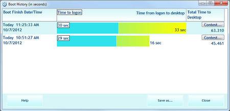 Comprueba la velocidad de carga de Windows 8 con BootRacer