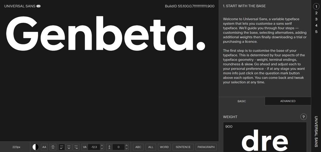 Universal Sans es la tipografía definitiva: una fuente completamente personalizable que puedes descargar con tus modificaciones