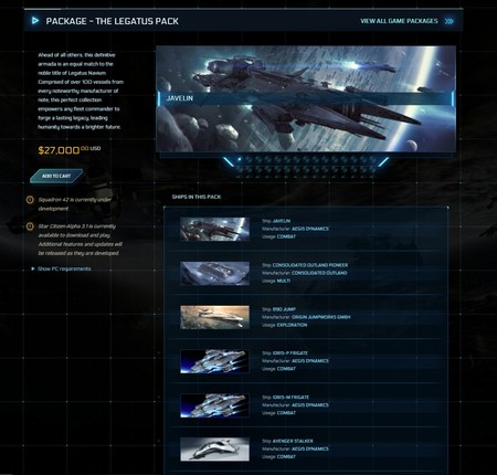 Star Citizen The Legatus Pack