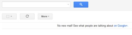 Si ya has leído todos los correos, GMail te invita a navegar por Google+
