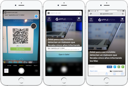 Leer código QR en iOS 11