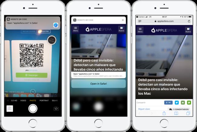 Leer código QR en iOS™ 11