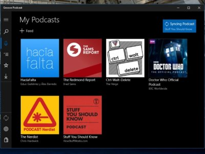 Groove Podcast, una app para escuchar podcasts en Windows 10 con la misma interfaz que Groove Music