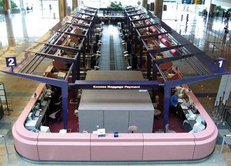 Despacho ultramoderno en el aeropuerto Changi