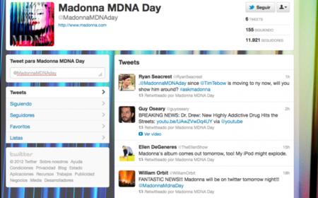 Madonna abre una cuenta en Twitter para promocionar su último álbum