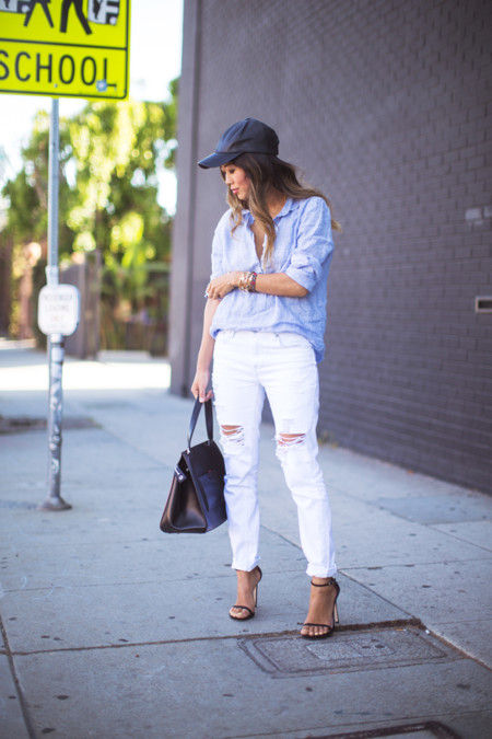 Look Pantalones Blancos Verano Tendencia 2016 2