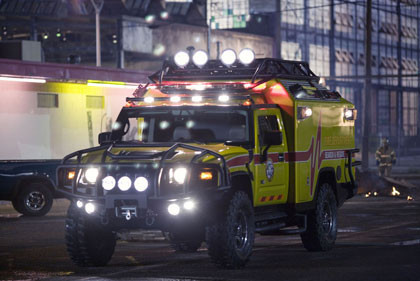 Autobot Ratchet Hummer H2 Rescue Vehicle