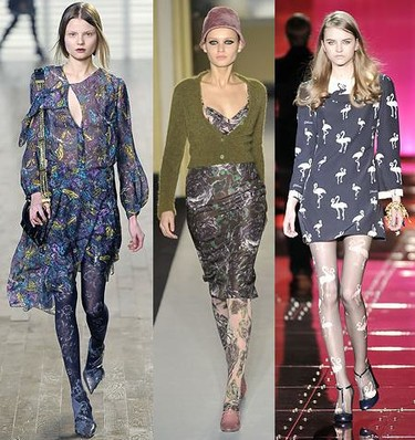 Tendencias de invierno: medias estampadas