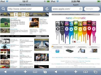Pequeños cambios en Safari en el firmware 2.2 del iPhone