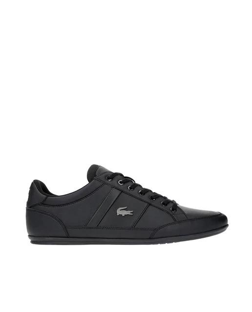 Zapatillas de hombre de piel Lacoste en color negro. Modelo Chaymon.