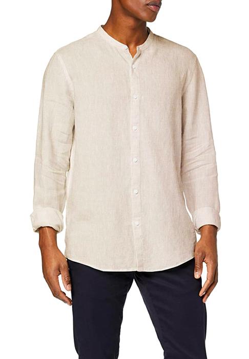 Camisa de lino manga larga