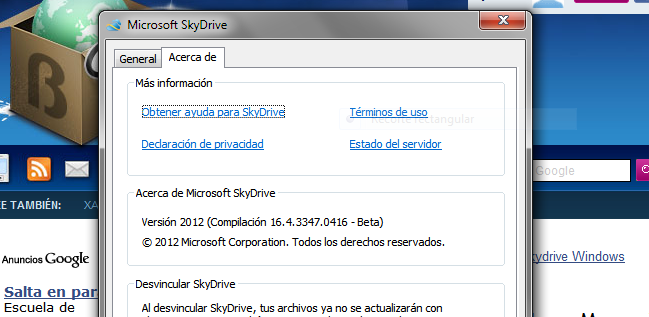 Skydrive en Windows