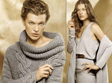Milla Jovovich imagen de la colección Donna Karan Cashmere Crucero 2009