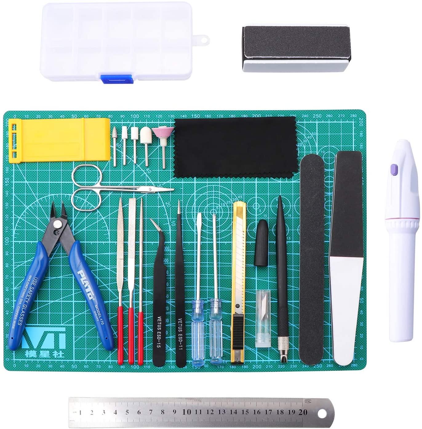 Paquete con 26 herramientas diferentes para armado de model kits (cupón extra de 8% de descuento)
