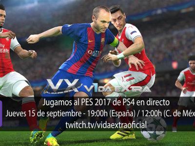 Jugamos en directo al PES 2017 en PS4 a las 19:00h (las 12:00h en Ciudad de México) (finalizado)