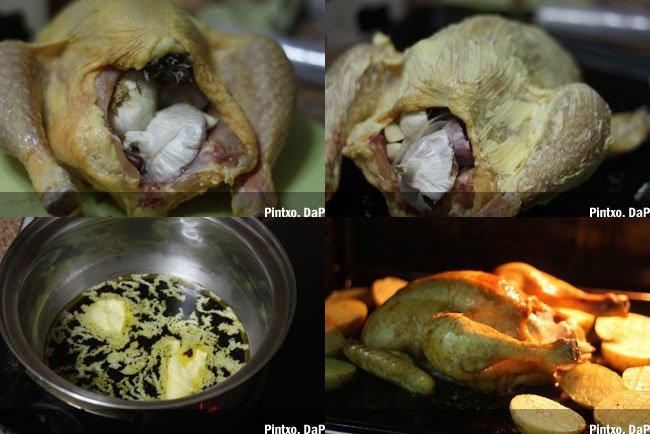Receta de pollo asado a la forma de Christian Delouvrier. Pasos