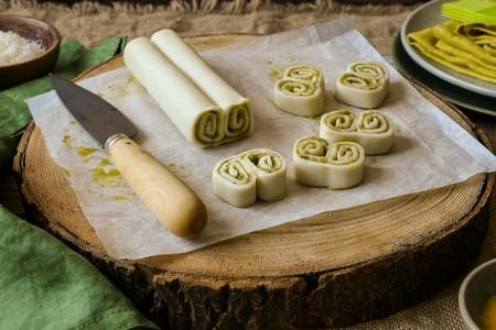 Palmeritas De Pesto Y Dulce De Leche 1 Min