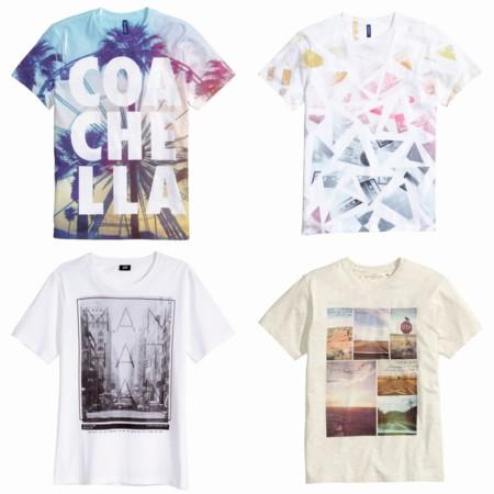 Hm Camisetas Estampadas Trendencias Hombre 2015