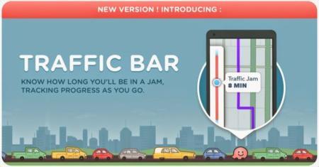 Waze para Android ahora te dice cuánto tiempo vas a estar en un atasco con su barra de tráfico