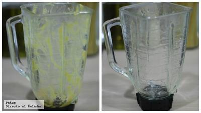 Cómo limpiar sin esfuerzo tu batidora de vaso o tu robot. Truco de cocina