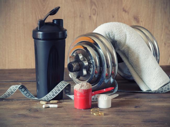 suplementos y pesas