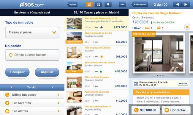 Aplicaciones para encontrar casa - pisos.com