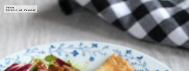 Receta de crêpes salados de setas y jamón con bechamel