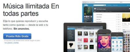 Rdio llega a España, más música en streaming en nuestros ordenadores y dispositivos móviles