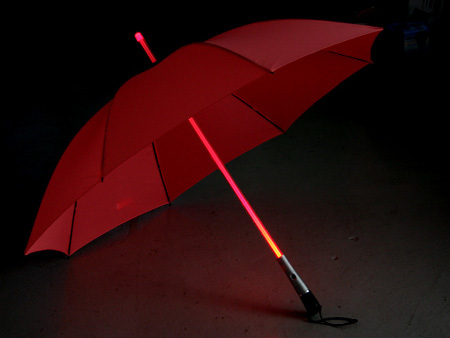 Paraguas con el mango LED