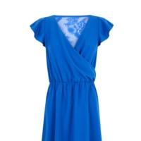 vestido azul encaje blanco rebajas 2014