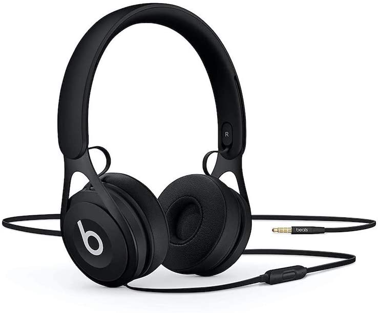 Audífonos on-ear Beats EP con cable, sin batería para uso ilimitado, controles y micrófono integrados - Negro