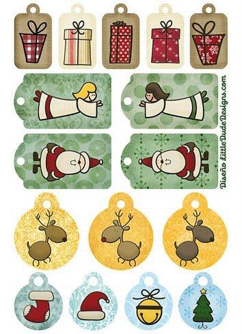 Tarjetas de Navidad para imprimir 2