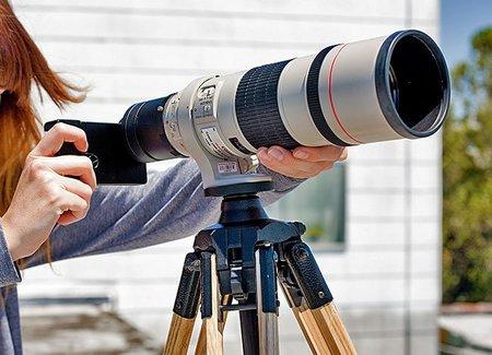 Acopla tus objetivos Canon y Nikon al iPhone 4