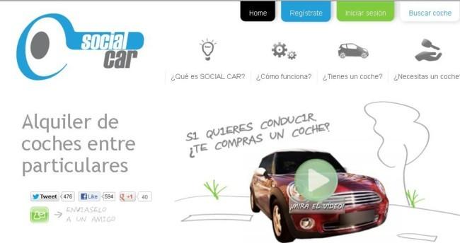 Social Car, alquiler de coches entre particulares