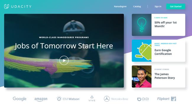 Udacity Free Online Classes Nanodegrees