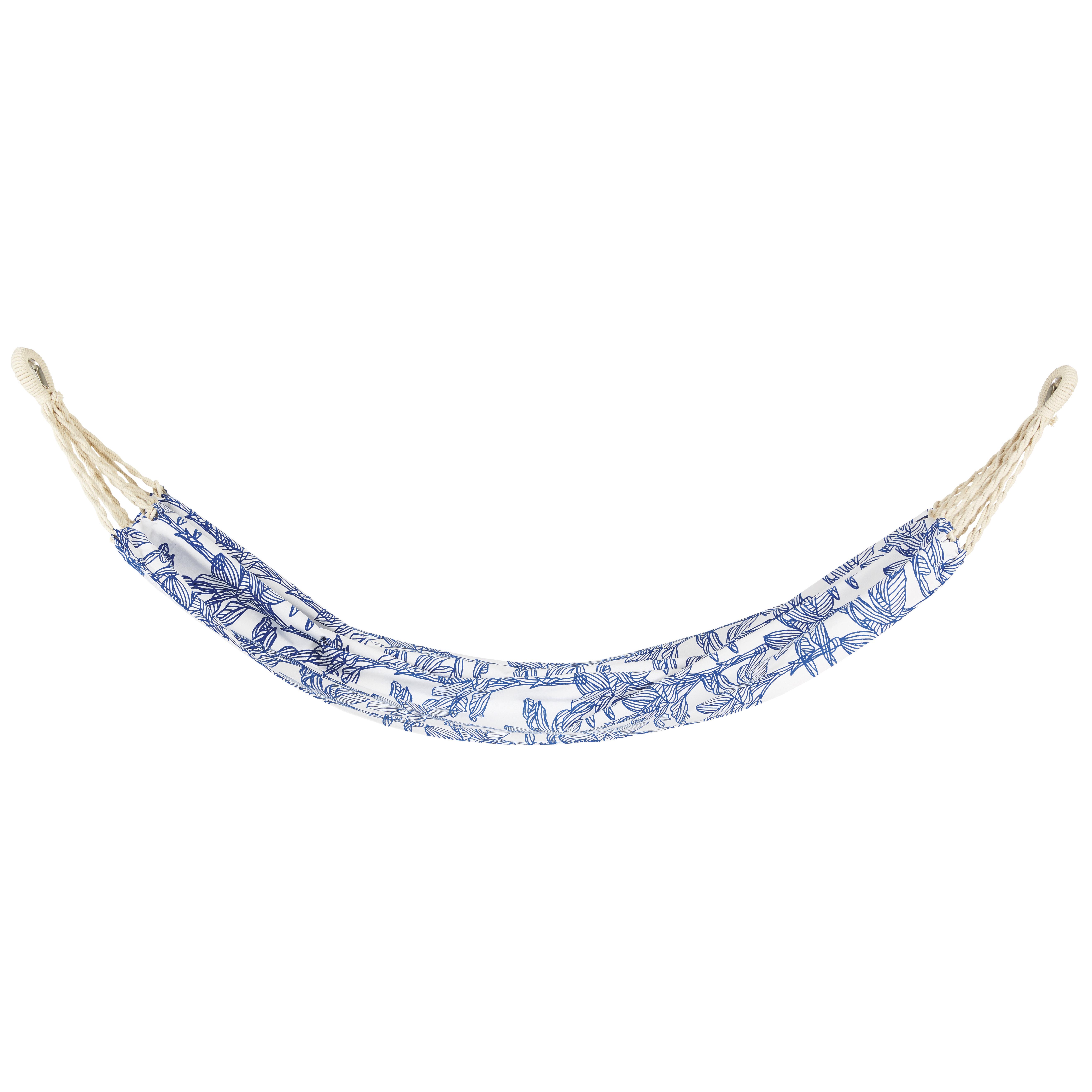 Hamaca de algodón estampado azul y blanco