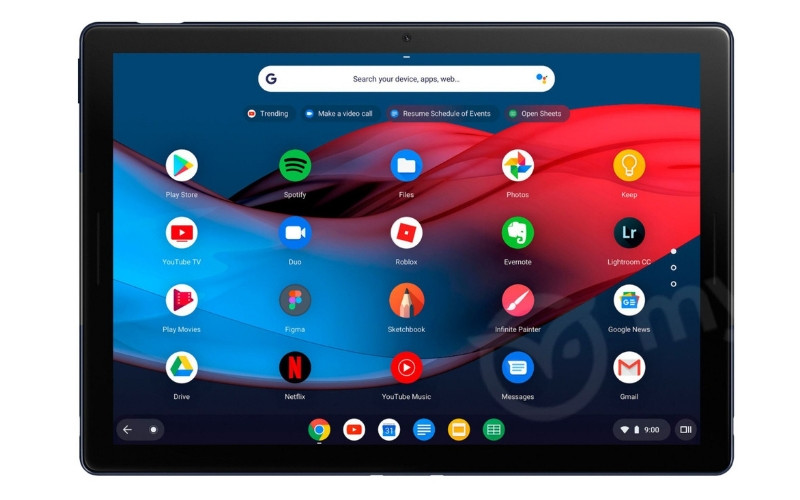 Pixel Slate: you filter images of the first tablet of Google based on Chrome OS